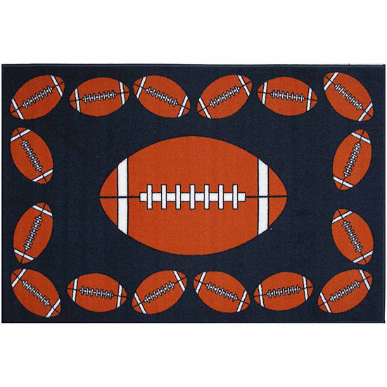 Football Time Rectangular Indoor Rugs