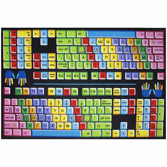 Keyboard Rectangular Indoor Rugs
