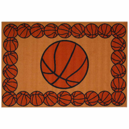 Basketball Time Rectangular Rugs
