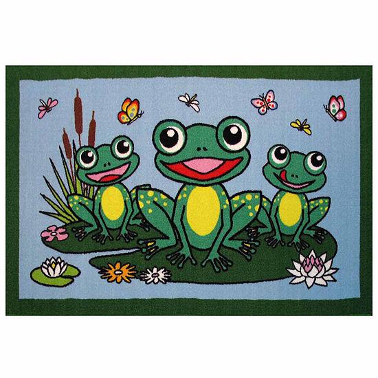Frogs Rectangular Indoor Rugs