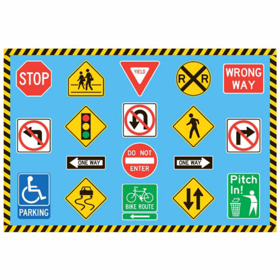 Traffic Signs Rectangular Rugs