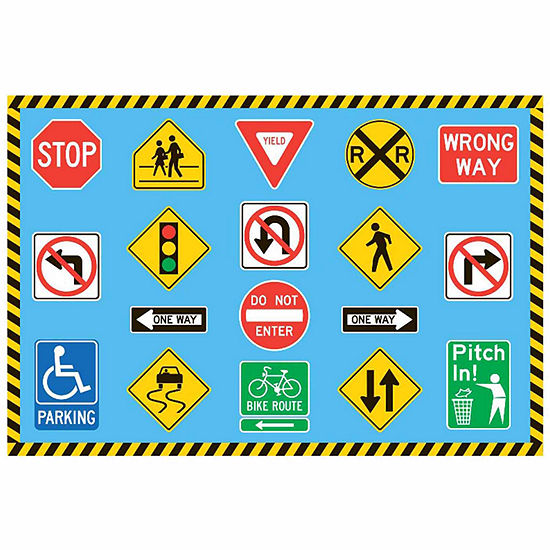 Traffic Signs Rectangular Indoor Rugs