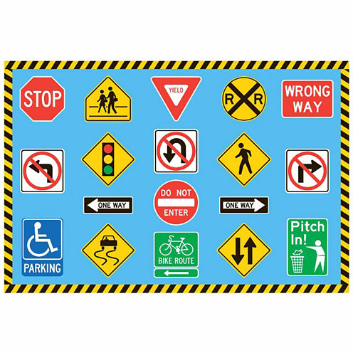 Traffic Signs Rectangular Rugs