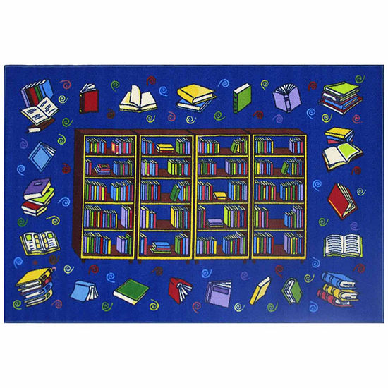 Reading Time Rectangular Indoor Rugs