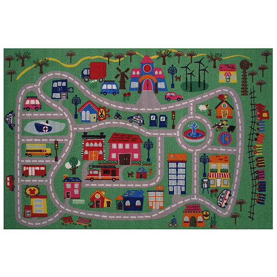 Fun City Rectangular Indoor Rugs