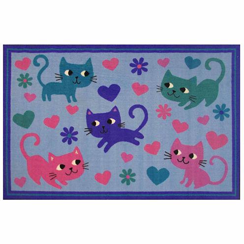 Kitty Cats Rectangular Rugs