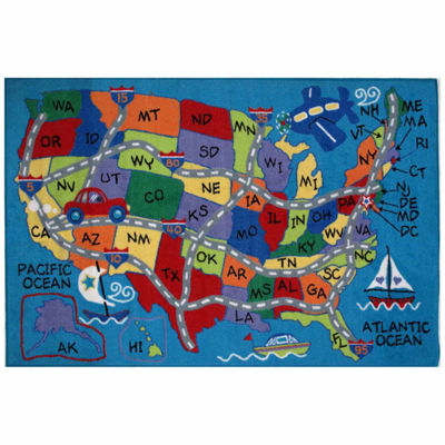 Travel Fun Rectangular Rugs