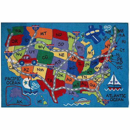 31x47 Travel Fun Rectangle Accent Rug