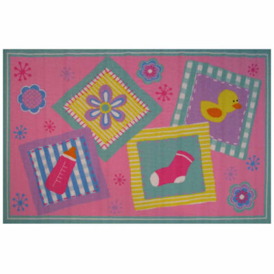 Rockabye Baby Rectangular Rugs