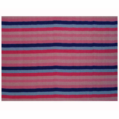 Blooming Pink Rectangular Rugs