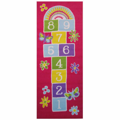 Garden Hopscotch Rectangular Rugs