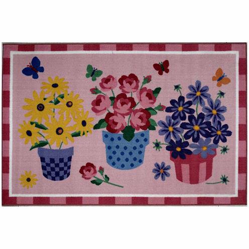 Blossoms & Butterflies Rectangular Rugs