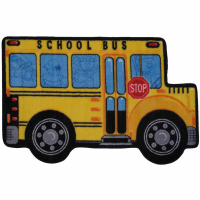 School Bus Rectangular Rugs