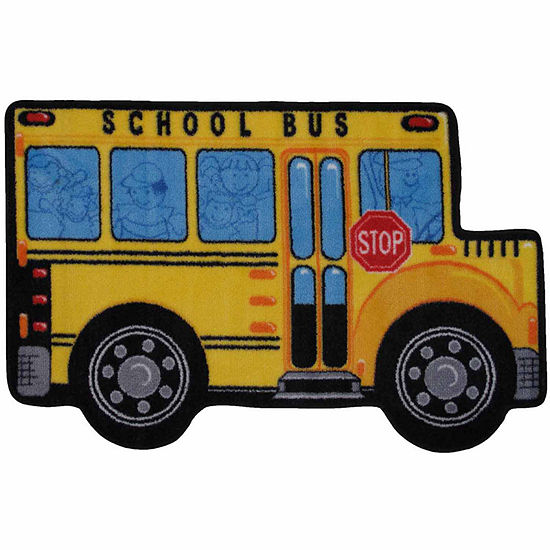School Bus Rectangular Indoor Rugs