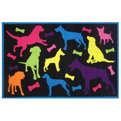 Bow Wow Rectangular Rugs