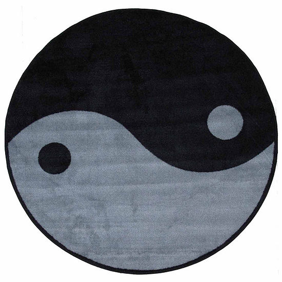 Ying Yang Round Indoor Rugs