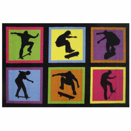Skateboarding Fun Rectangular Rugs