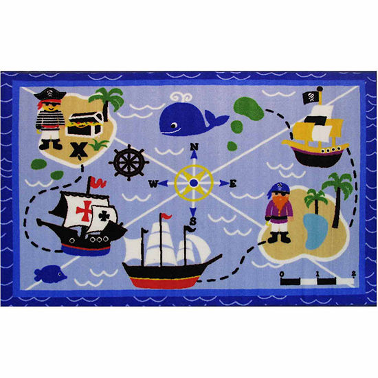 Buried Treasures Rectangular Indoor Rugs
