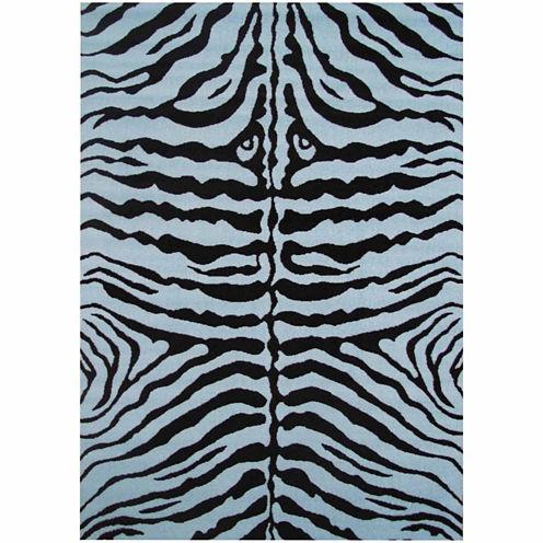 "39""X58"" Zebra Skin Rectangle Accent Rug"