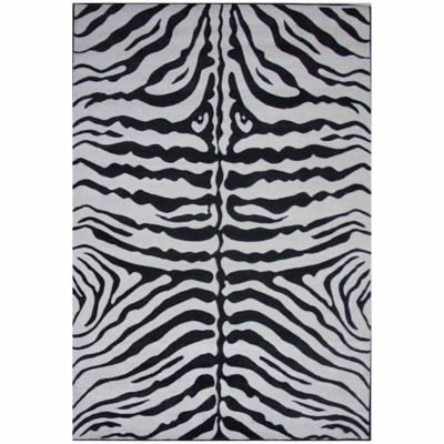Zebra Skin Rectangular Rugs