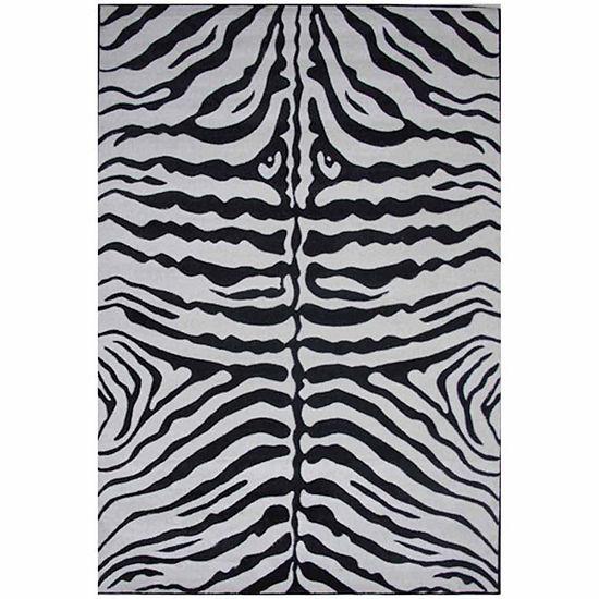 Zebra Skin Rectangular Indoor Rugs