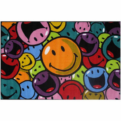 Smiles And Laughs Rectangular Indoor Accent Rug
