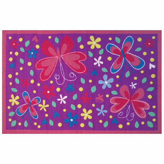 Butterfly Valley Rectangular Indoor Rugs
