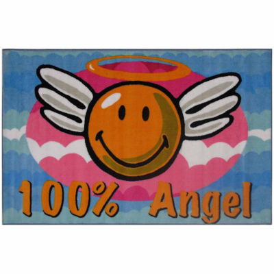 Smiley Angel Rectangular Rugs