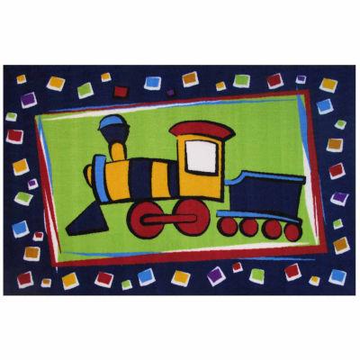 Choo Choo Train Rectangular Rugs