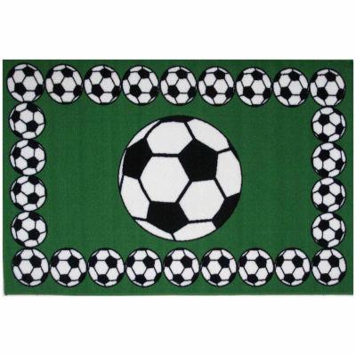 Soccer Time Rectangular Rugs