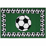 Soccer Time Rectangular Indoor Rugs