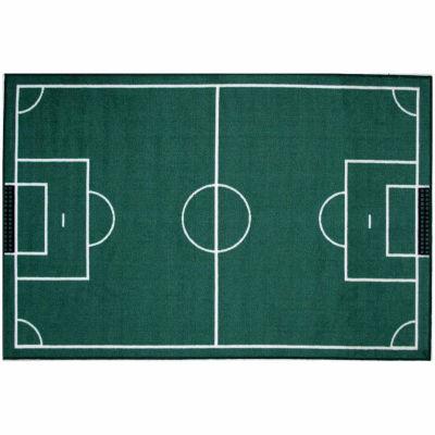 Soccerfield Rectangular Rugs