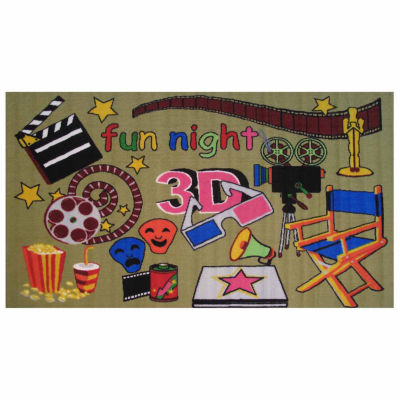 Movie Time Rectangular Rugs