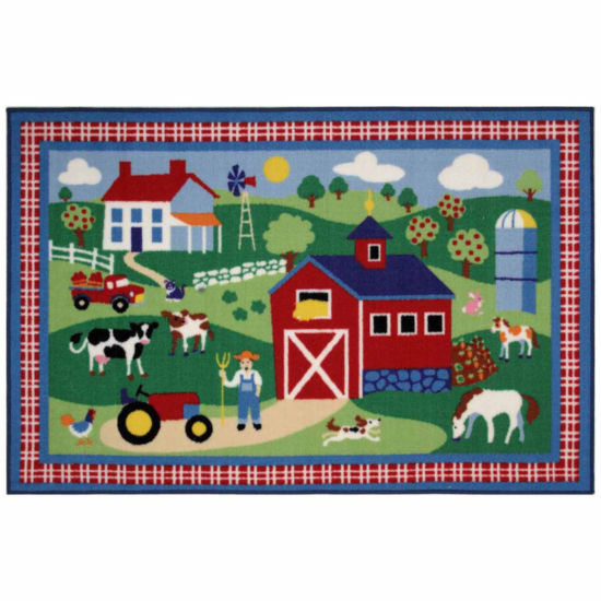 Country Farm Rectangular Rugs