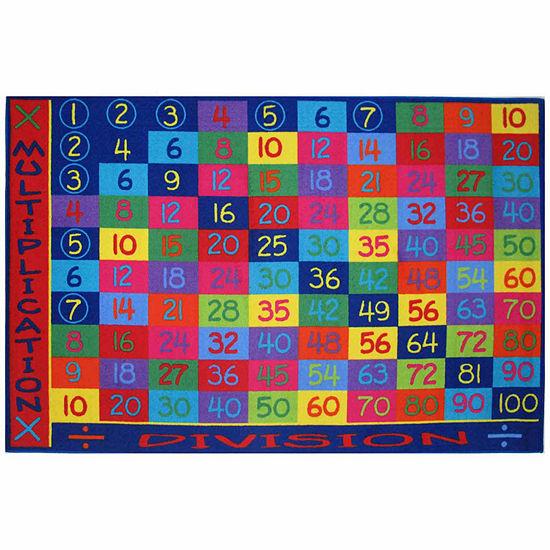 Multiplication Rectangular Indoor Rugs