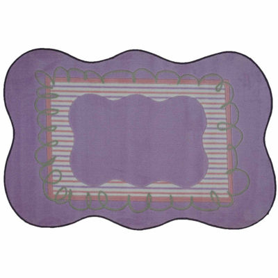 Girls Scalloped Rectangular Rugs