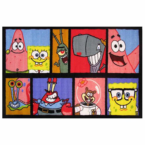 Spongebob Comic Rectangular Rugs