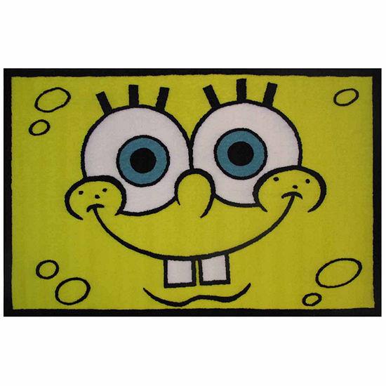 Spongebob Head Rectangular Indoor Rugs
