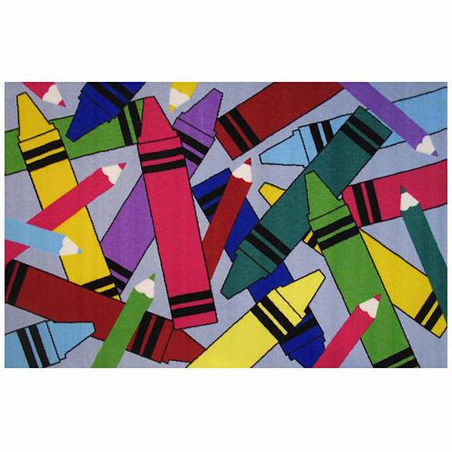 Crayons & Pencils Rectangular Rugs