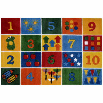 Number Blocks Rectangular Rugs