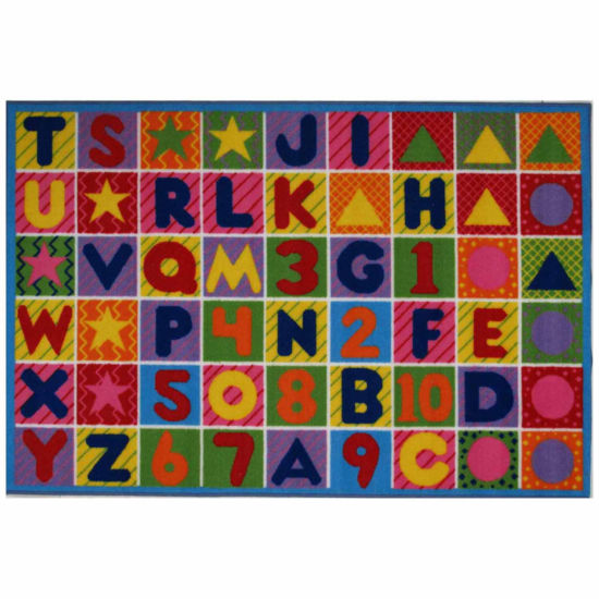 Numbers & Letters Rectangular Rugs