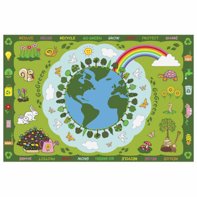 Go Green Rectangular Rugs