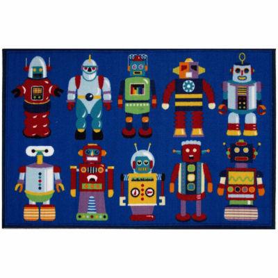 Go Robots Rectangular Rugs