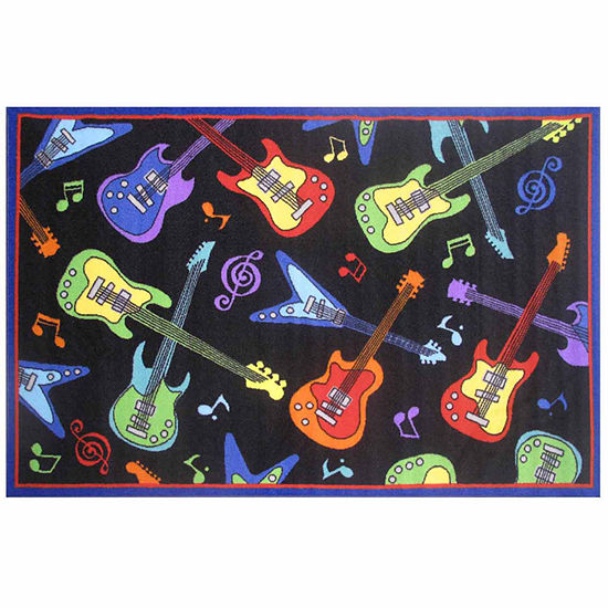 Guitars Rectangular Indoor Rugs