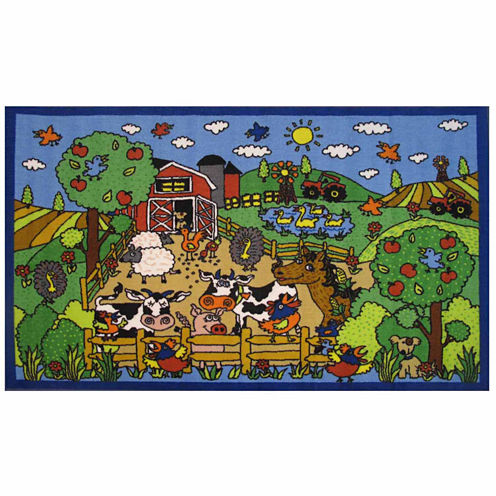 Happy Farm Rectangular Rugs