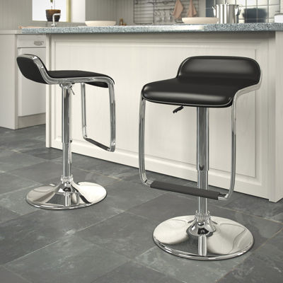 Adjustable Bar Stools with Footrests- Set of 2