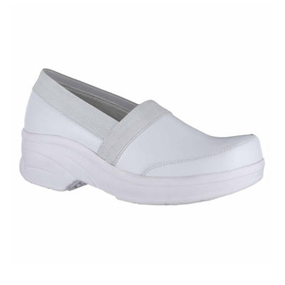 Easy Works By Easy Street Womens Attend Clogs Elastic Round Toe