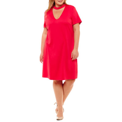 Distinctive Collections Short Sleeve Sheath Dress - Plus