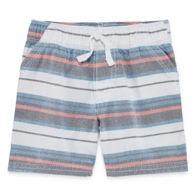 Okie Dokie Woven Stripe Pull-On Shorts - Baby Boy NB-24M