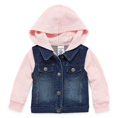 Okie Dokie Denim Jacket-Baby Girls NB-24M